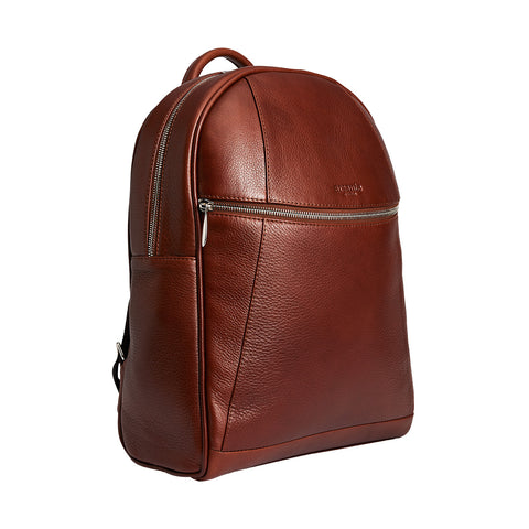 Arsante® Backpack Leather Whisky Brown