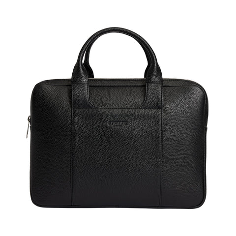 Arsante® Classica Leather Briefcase Rich Black