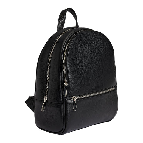 Arsante® Backpack Mini Leather Rich Black