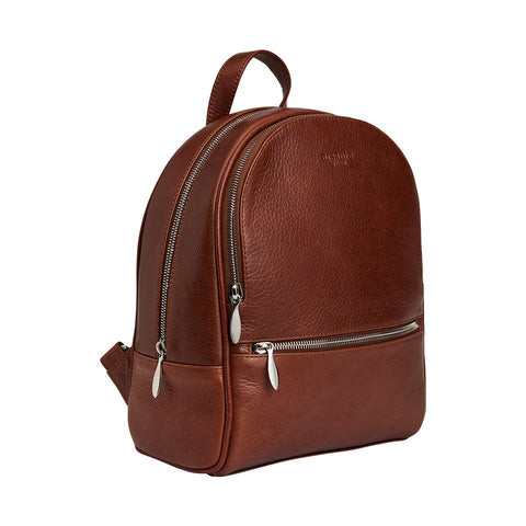 Arsante® Backpack Mini Leather Whisky Brown
