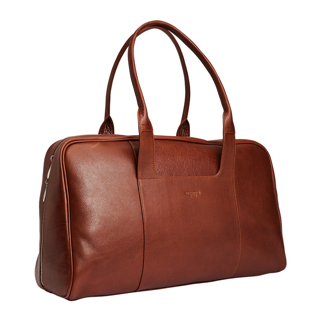 Arsante® Weekend Mini Leather Bag Whisky Brown