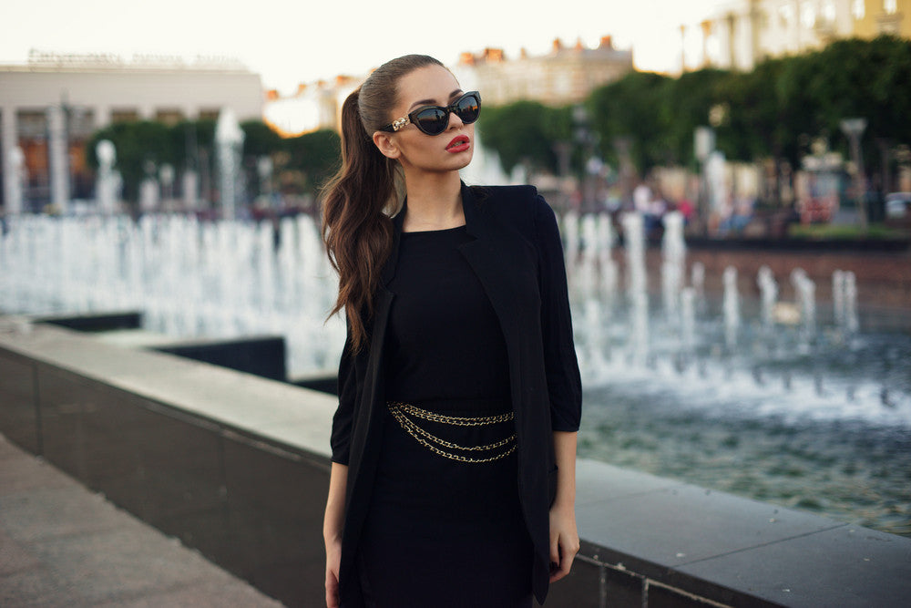 Minimalist Style, Black Dress, Unique