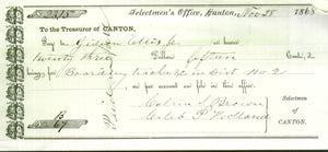 Selectmen of Canton, ME Receipts 1827-1869