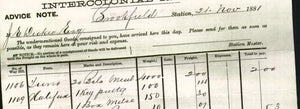 Image of old receipt from Brookfield