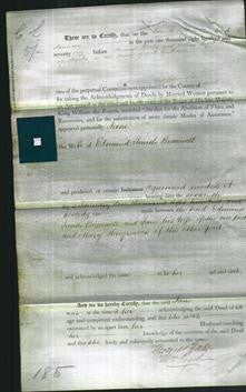 Deed by Married Women - Jane Bracewell-Original Ancestry