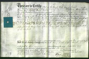 Deed by Married Women - Mary Sarah Sissons Perry Banks-Original Ancestry