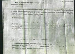 Deed by Married Women - Mary Ann Cleworth-Original Ancestry