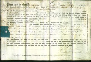 Deed by Married Women - Charlotte Hannah Radcliffe-Original Ancestry