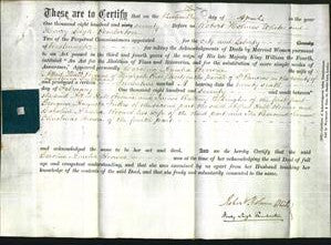 Deed by Married Women - Caroline Amelia Browne-Original Ancestry