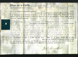Deed by Married Women - Weyland Seymour and Frances Fowler-Original Ancestry