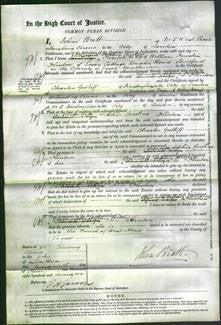 Court of Common Pleas - Elizabeth Sophia Caroline Flinton-Original Ancestry