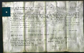Deed by Married Women - Sarah Biddle-Original Ancestry