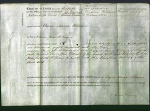 Deed by Married Women - Agnes Maria Williams-Original Ancestry