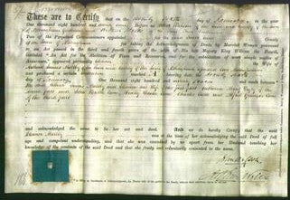 Deed by Married Women - Eleanor Maltby-Original Ancestry