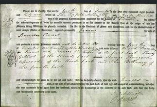 Deed by Married Women - Frances Vincent-Original Ancestry