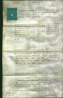 Deed by Married Women - Hannah Maria Lees-Original Ancestry