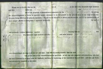 Deed by Married Women - Sarah Trasler-Original Ancestry