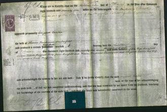 Deed by Married Women - Elizabeth Loetitia Buckerfield-Original Ancestry