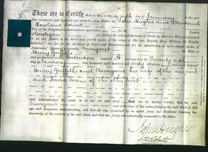 Deed by Married Women - Margaret Griffiths-Original Ancestry
