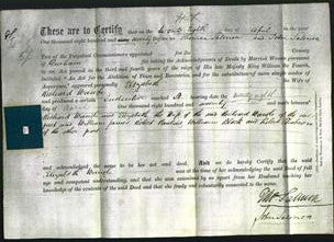Deed by Married Women - Elizabeth Waugh-Original Ancestry