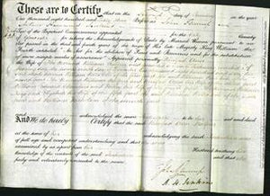 Deed by Married Women - Winifred Ann Balfour-Original Ancestry