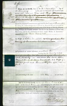 Deed by Married Women - Ann Meredith-Original Ancestry