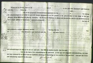 Deed by Married Women - Frances Pritchard Gee-Original Ancestry