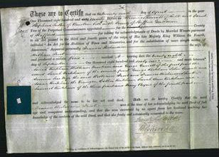 Deed by Married Women - Frances Richardson Hirst-Original Ancestry