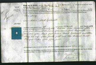 Deed by Married Women - Ellen Mary Goldsmith-Original Ancestry