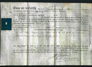 Deed by Married Women - Frances Mary Shepperson-Original Ancestry