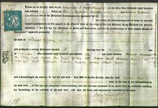 Deed by Married Women - Sarah Hulme-Original Ancestry