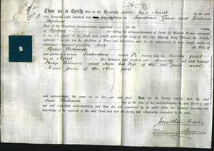 Deed by Married Women - Jane Richards-Original Ancestry
