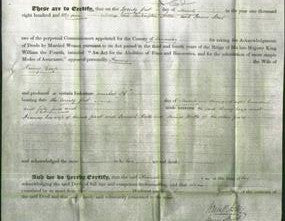Deed by Married Women - Francis Coop-Original Ancestry