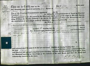 Deed by Married Women - Frances Lamb-Original Ancestry