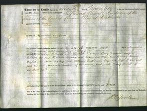 Deed by Married Women - Susan Courison-Original Ancestry