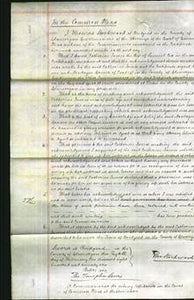 Court of Common Pleas - Catherine James Cox-Original Ancestry