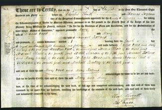 Deed by Married Women - Mary Wood and Mary Bollard-Original Ancestry