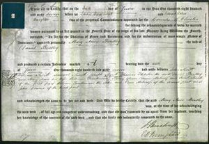 Deed by Married Women - Mary Anne Bentley-Original Ancestry