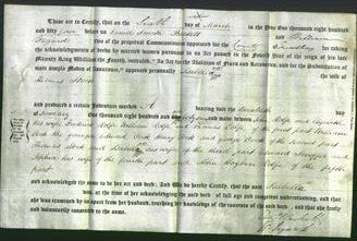 Deed by Married Women - Isabella Stock-Original Ancestry