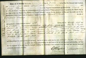 Deed by Married Women - Sarah Tucker Dowling-Original Ancestry