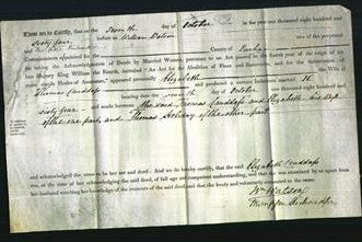 Deed by Married Women - Elizabeth Cruddass-Original Ancestry