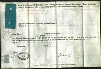 Appointment of Special Commisioners - Samuel Bradford Vaughan, Frederick George Moule, Arthur Seddon, Henry Davis-Original Ancestry