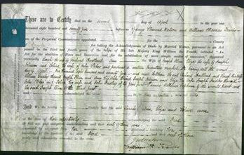 Deed by Married Women - Sarah Hartland, Ann Shin, Eliza Johnson and Selina Stokes-Original Ancestry
