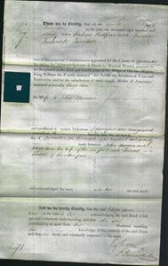 Deed by Married Women - Eliza Ann Warrener-Original Ancestry
