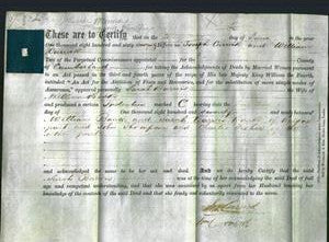 Deed by Married Women - Sarah Barwis Banks-Original Ancestry