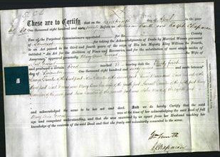 Deed by Married Women - Mary Anne Evered-Original Ancestry