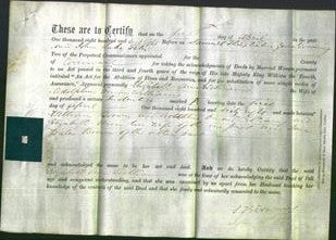 Deed by Married Women - Elizabeth Ann Williams-Original Ancestry