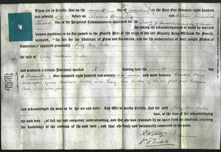 Deed by Married Women - Mary Ann Butler-Original Ancestry