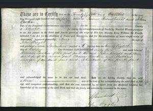 Deed by Married Women - Ann Wright-Original Ancestry