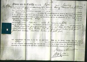 Deed by Married Women - Eliza Chivers-Original Ancestry
